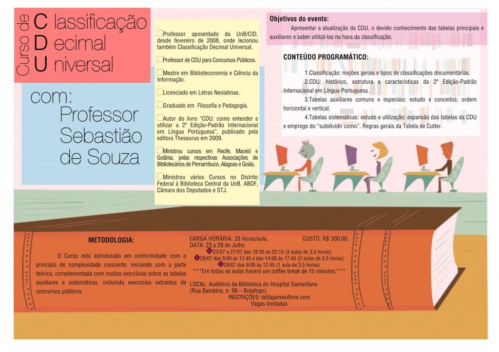 Curso de CDU com o professor Sebastião de Souza